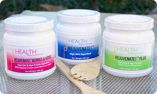 All three Rejuvenate high-RNA superfoods dietary nucleic acids