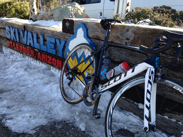 Mount Lemmon Tucson Arizona bike training Alfred
