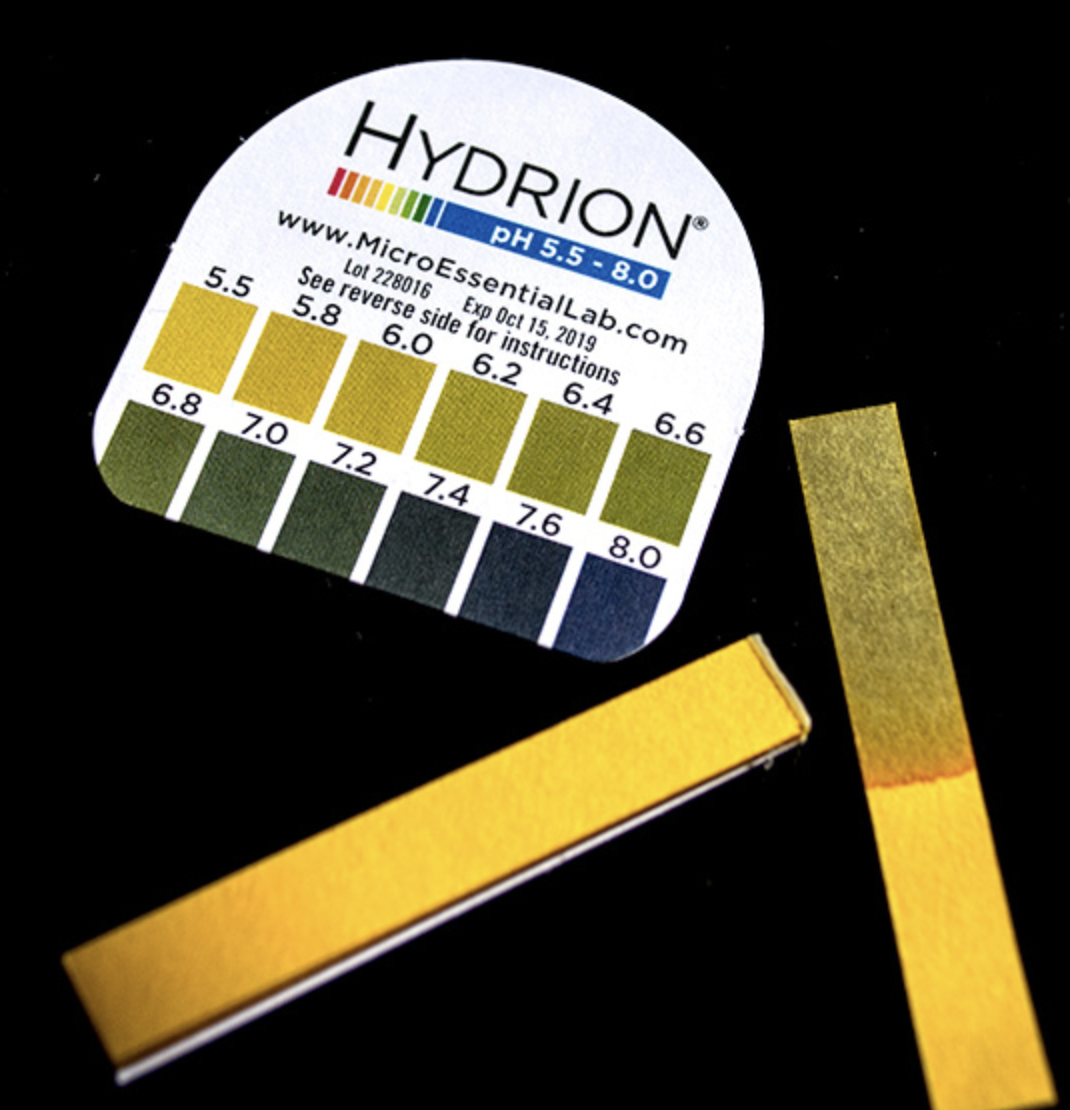 use ph paper to measure ph levels before and after taking ph adjust